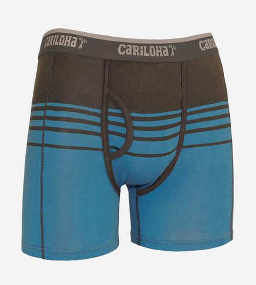 men's caribbean blue stripe bamboo boxer briefs