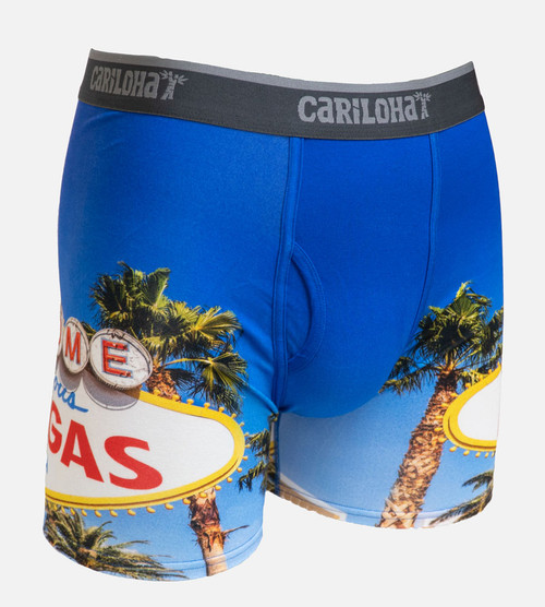 front of vegas strip boxers