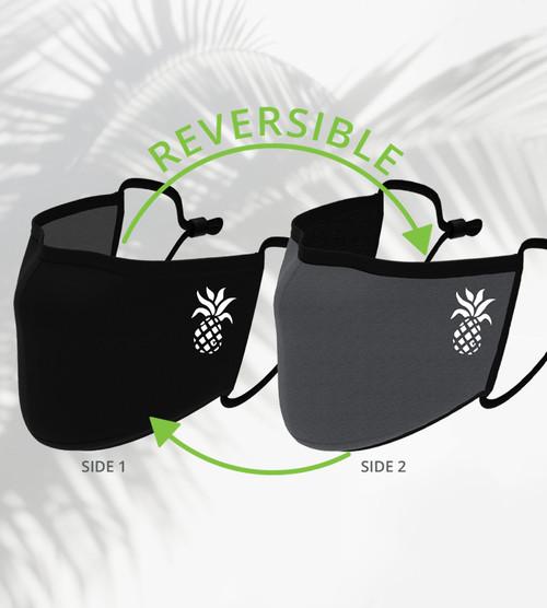 black/carbon reversible mask