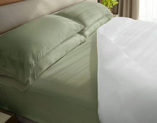 classic sheets on bed