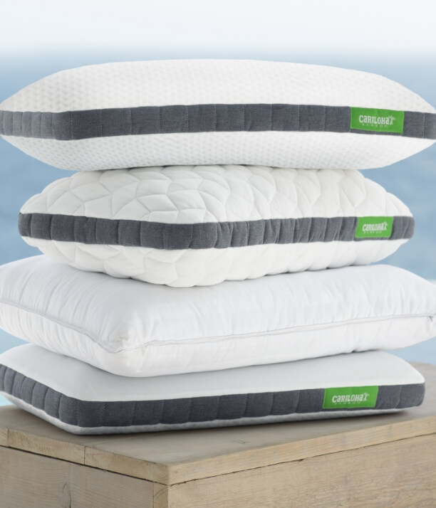Stack of Cariloha Pillows