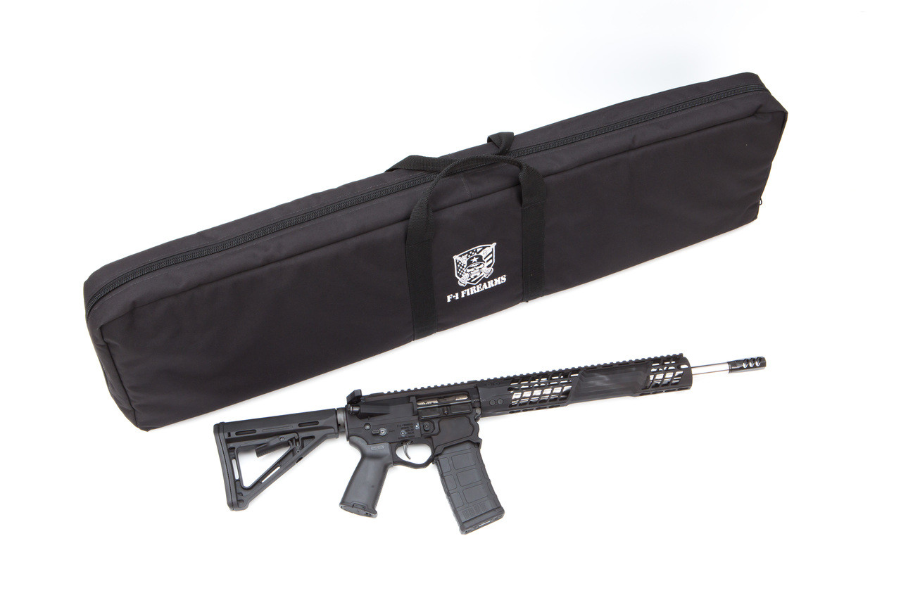 AMS Soft Double Rifle Case (Stitched F-1 Firearms Logo) - Black