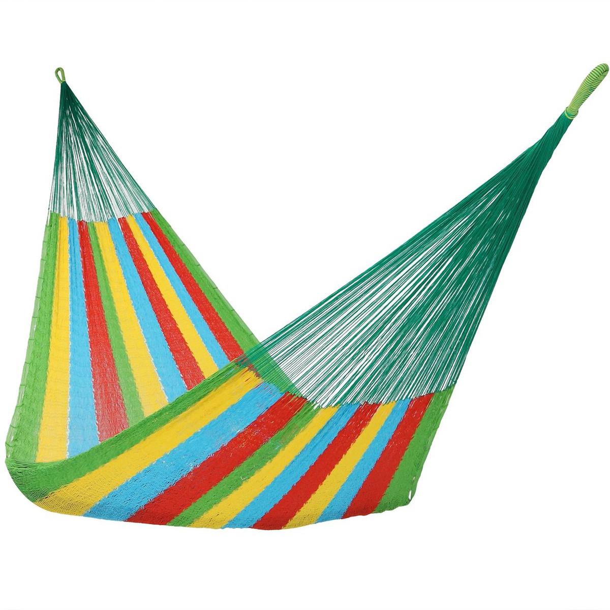Sunnydaze Portable Hand Woven 1 Person Mayan Hammock, Single Size, 330  Pound Capacity | Outdoor Furniture