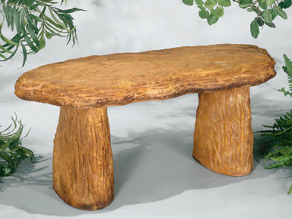 reconstituted stone bench,straight woodland design garden seat