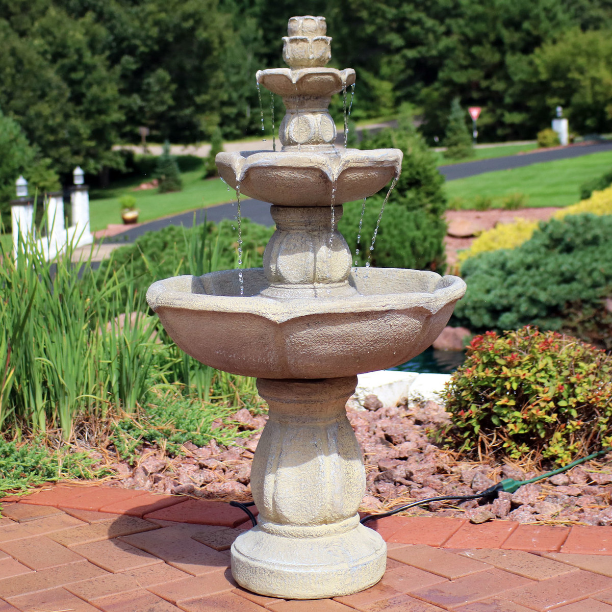 Sunnydaze Birds' Delight Outdoor Water Fountain, Includes