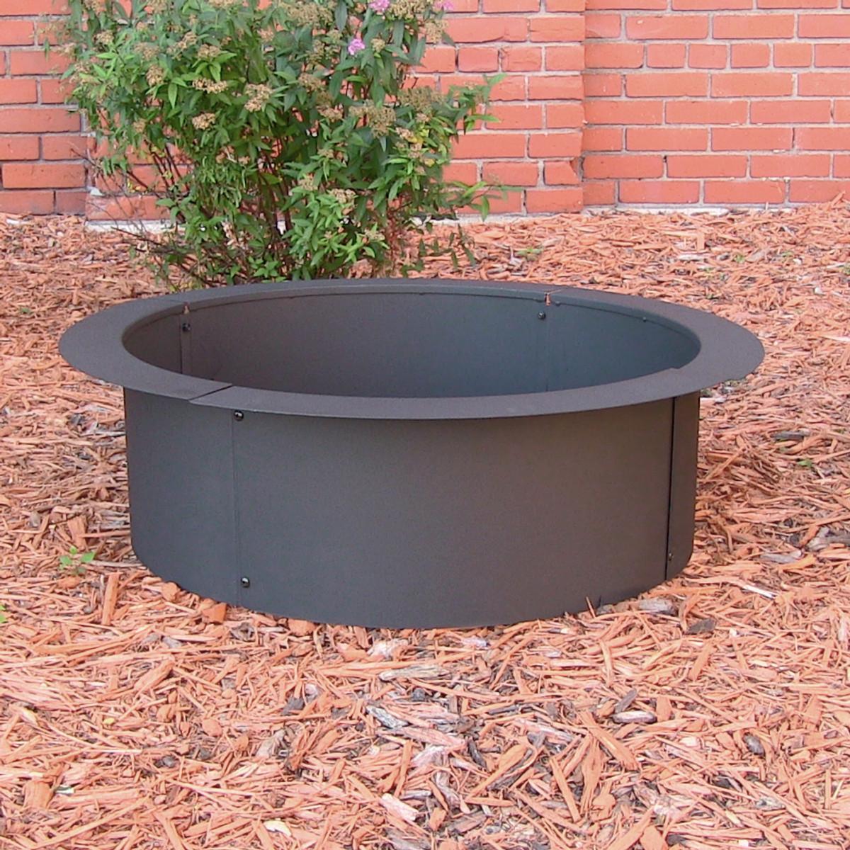 Sunnydaze Durable Steel Fire Pit Ring Liner Diy Fire Pit Rim Above Or In Ground In Ground Fire Pit Wood Fire Pit Fire Pit Liner