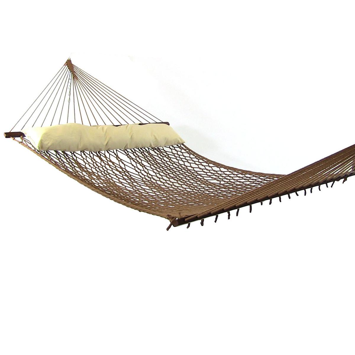 450-Pound Weight Capacity Sunnydaze 2-Person Cotton Spreader Bar Rope Hammock