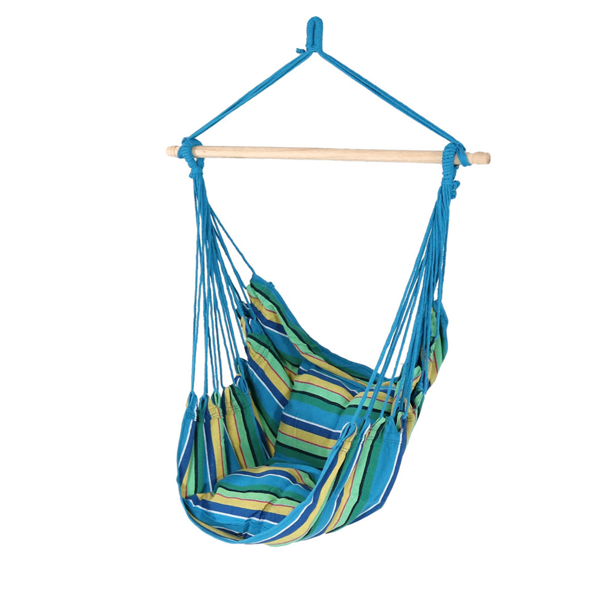 Sunnydaze Hanging Hammock Chair Swing For Indoor Or Outdoor Use Max Weight 265 Pounds Includes 2 Seat Cushions