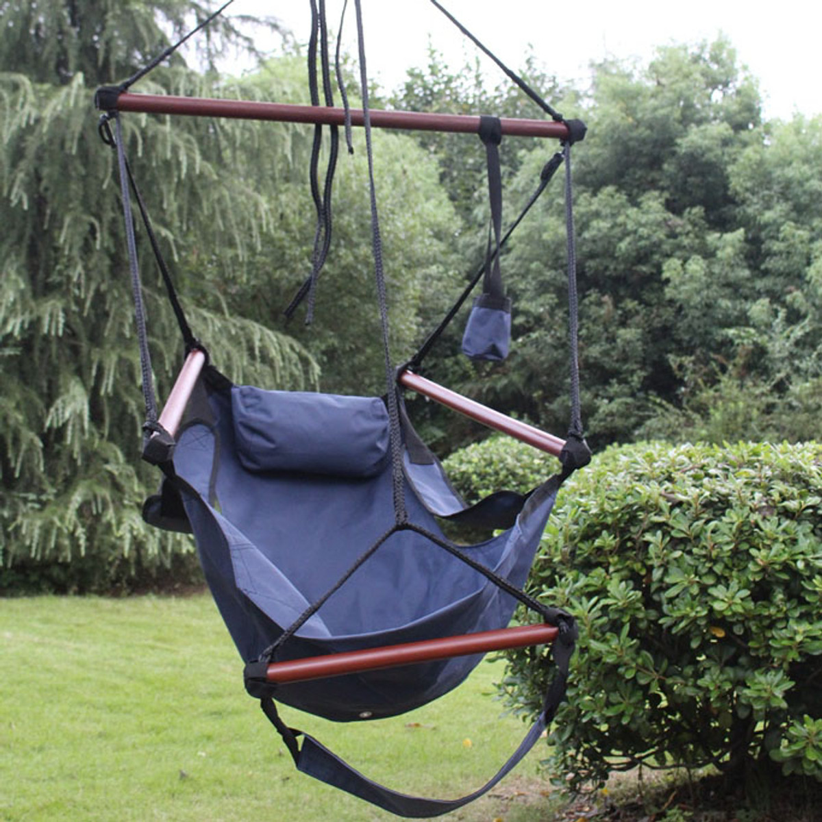 Sunnydaze Deluxe Hanging Hammock Air Chair W C Stand