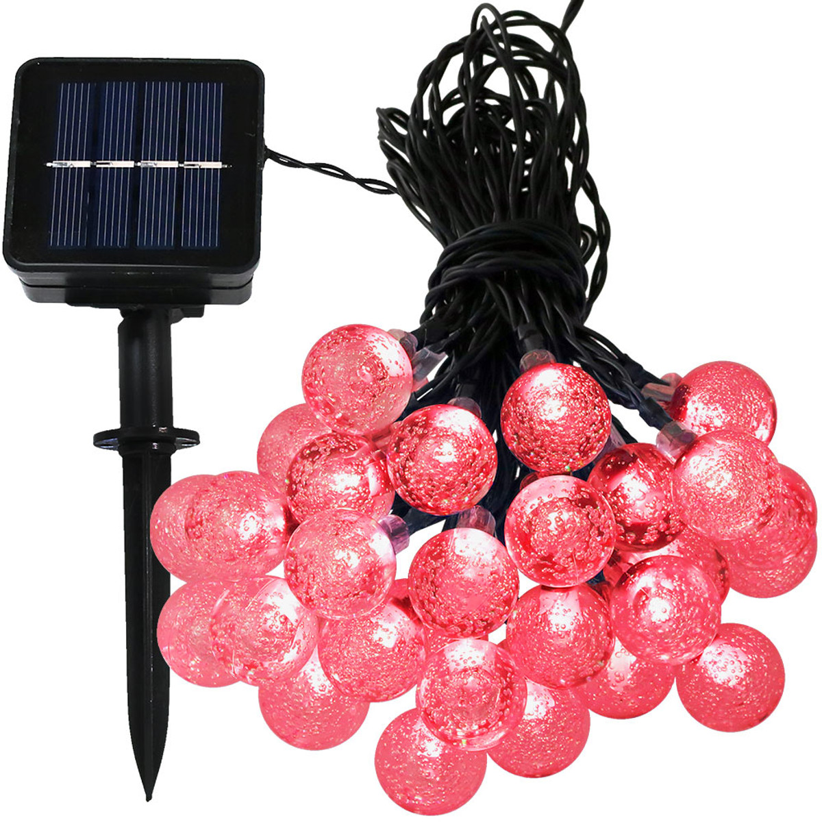 Sunnydaze 30 Count Led Solar Powered Globe String Lights