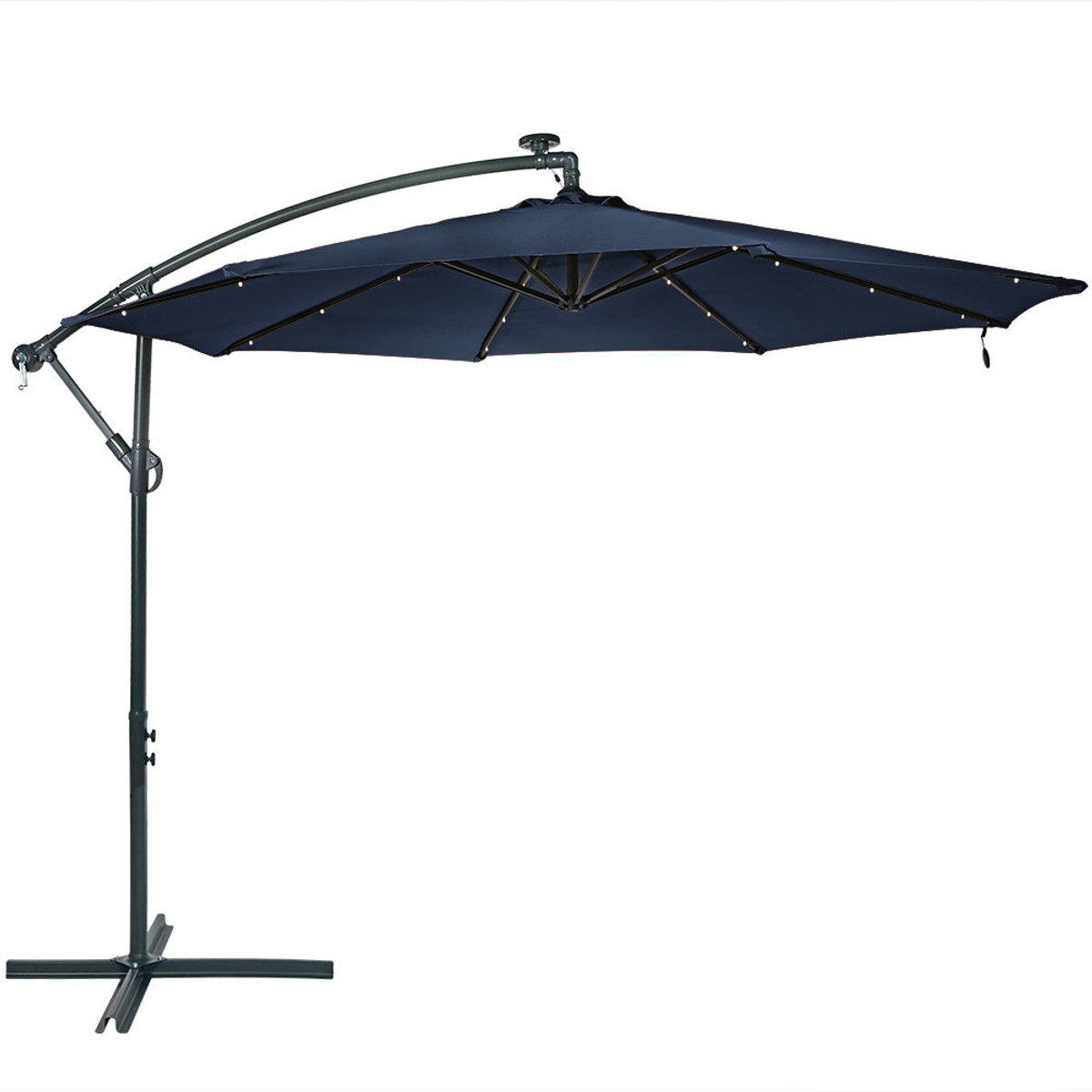 Your Cart  sc 1 st  Serenity Health \u0026 Home Decor & Sunnydaze Steel 10-Foot Offset Solar LED Patio Umbrella