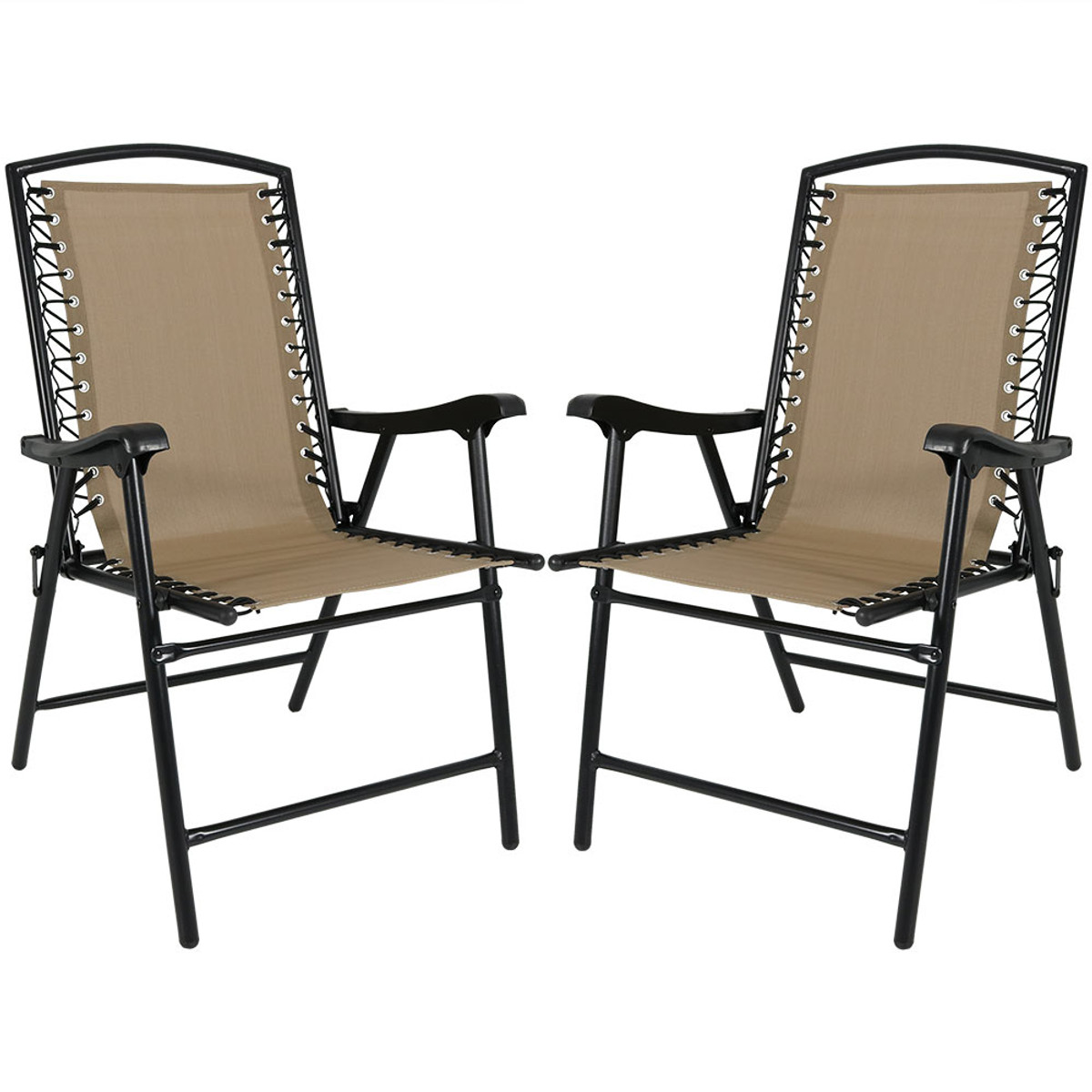 Peachy Sunnydaze Mesh Outdoor Suspension Folding Patio Lounge Chair Pabps2019 Chair Design Images Pabps2019Com