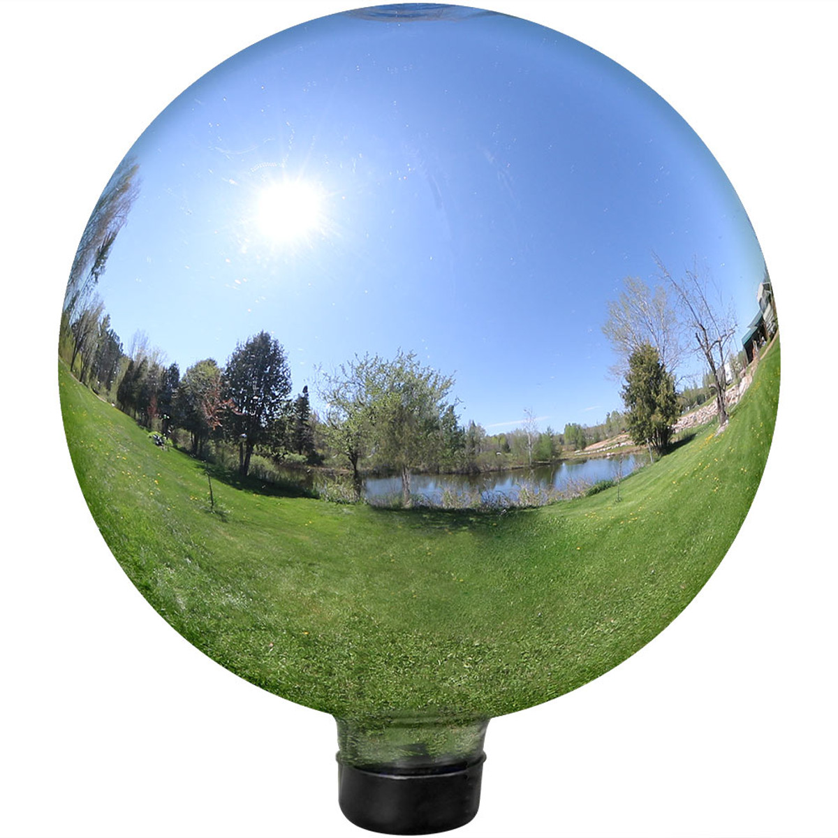 46801ebd Sunnydaze 10-Inch Glass Gazing Globe Ball with Mirrored Finish, Color  Options Available