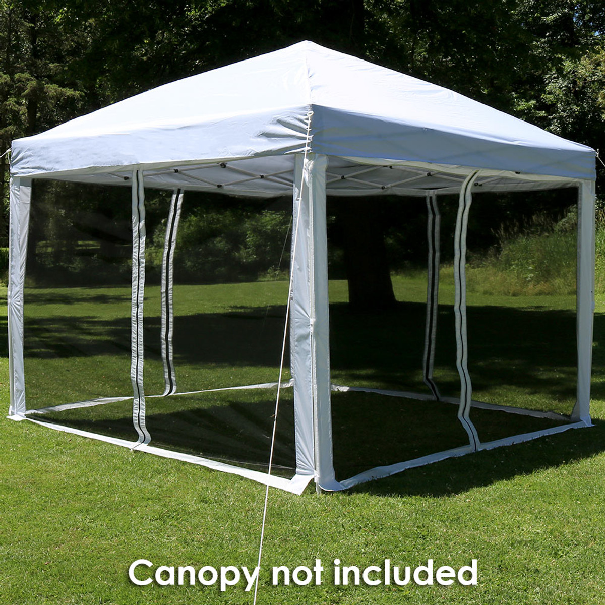 Zippered Mesh Sidewall Kits for Quick-Up Canopies