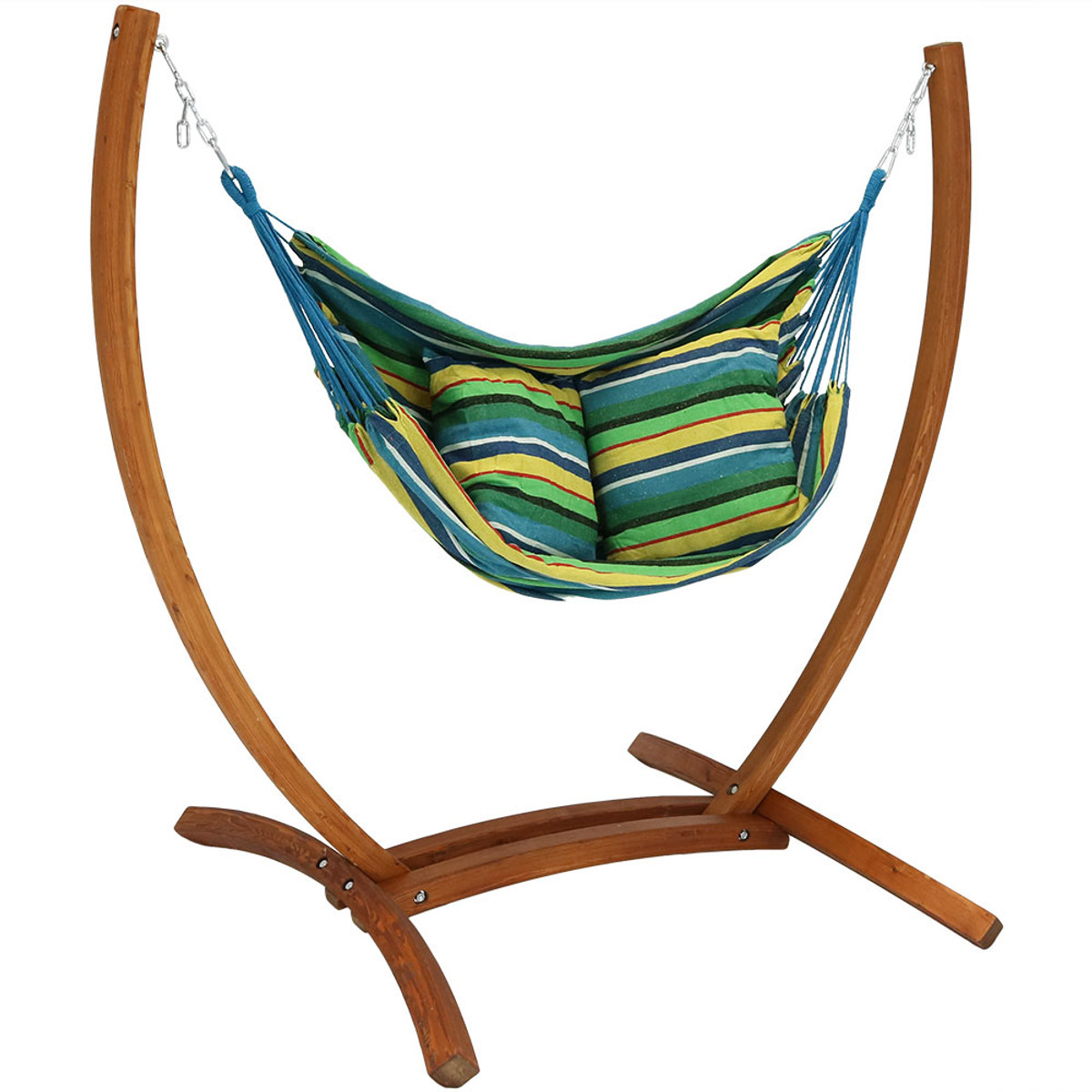 Cool Sunnydaze Hanging Hammock Chair Swing With Sturdy Space Short Links Chair Design For Home Short Linksinfo
