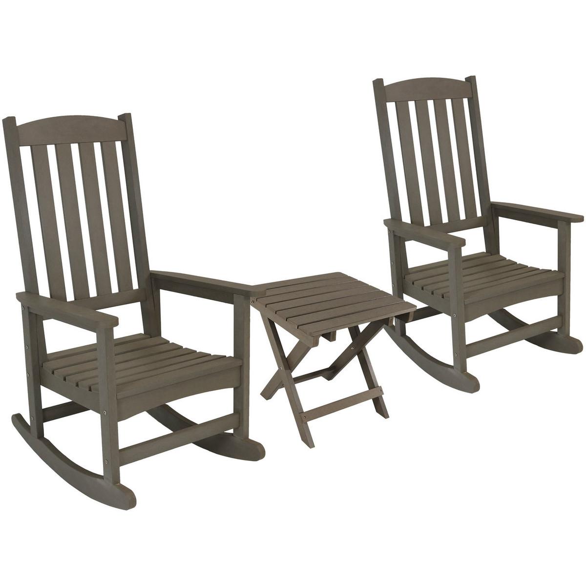 Admirable Sunnydaze Rocking Chair Patio Set Two Chairs Table Machost Co Dining Chair Design Ideas Machostcouk