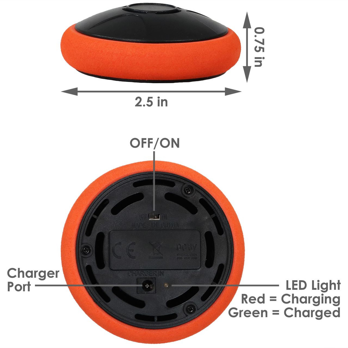 Set of 2 Sunnydaze Tabletop Rechargeable Hockey Hover Puck 2-Inch