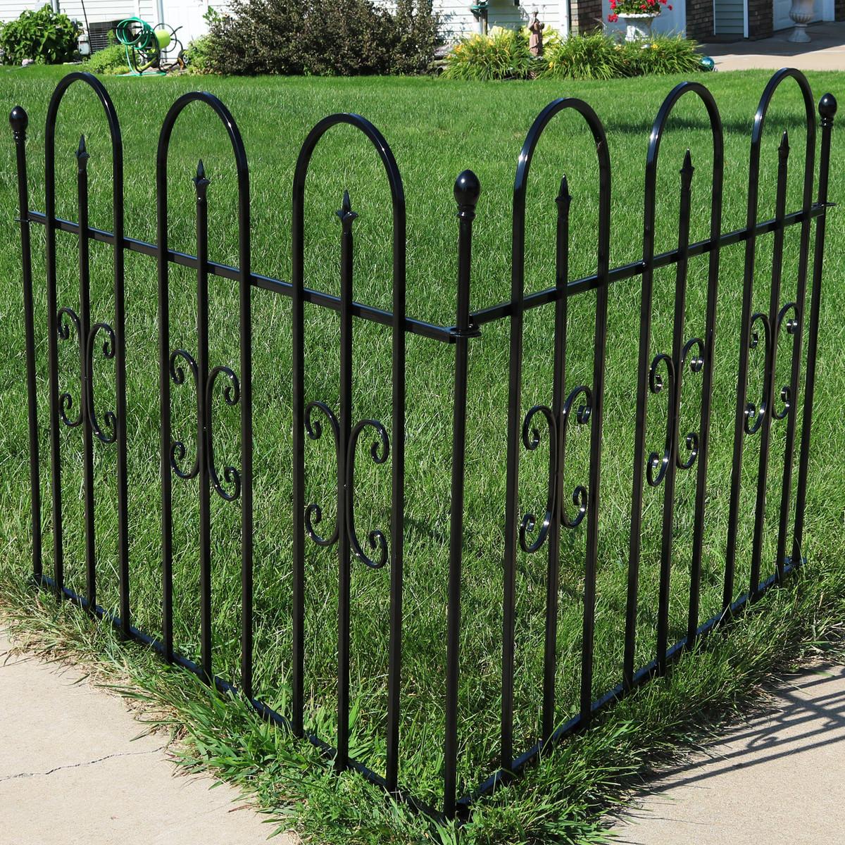 Picture of: Sunnydaze 2 Piece Decorative Finial Border Fence
