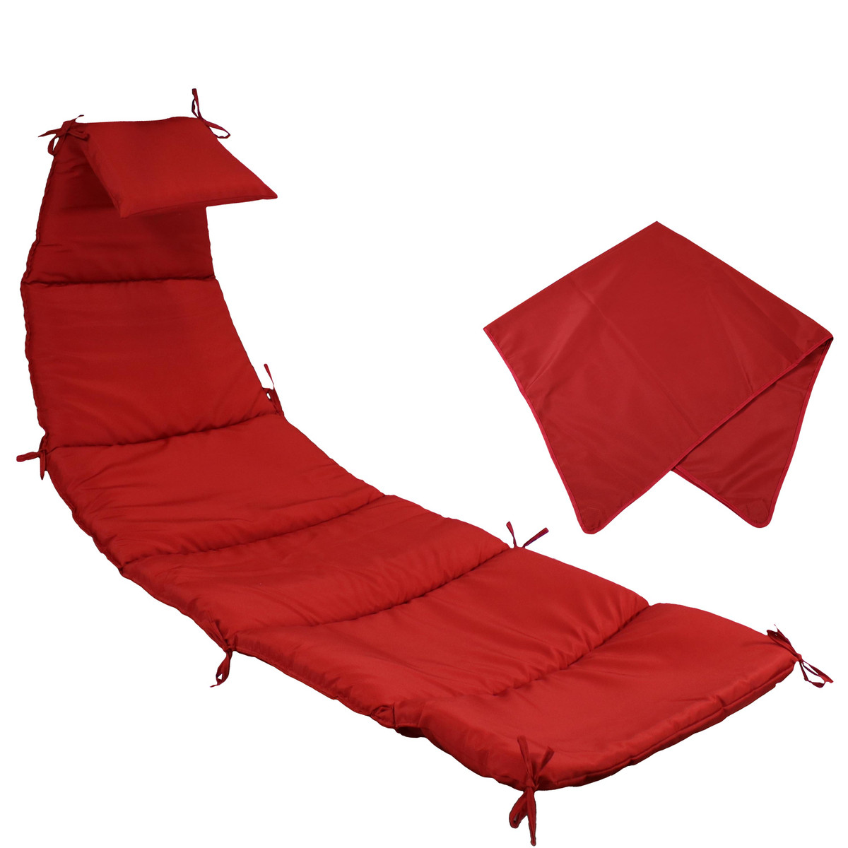 Sunnydaze Hanging Lounge Chair Replacement Cushion And Umbrella Multiple Colors Available