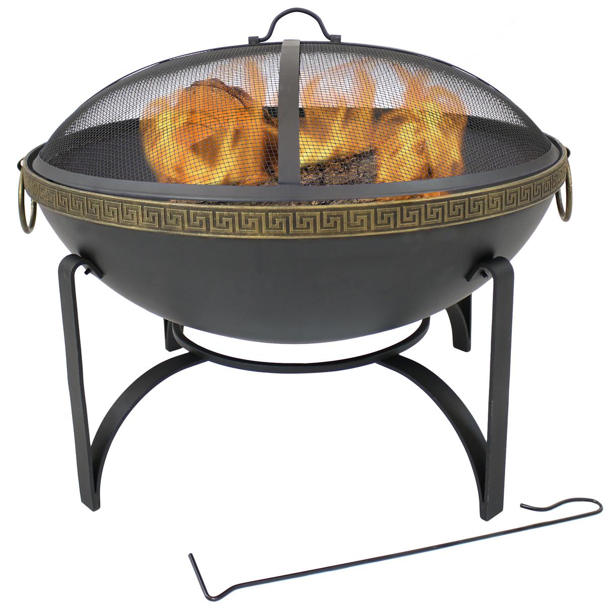 Admirable Sunnydaze Contemporary Steel Outdoor Wood Burning Fire Bowl Uwap Interior Chair Design Uwaporg