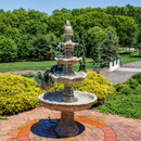 4-Tier Grand Courtyard Fountain - Earth Color