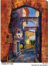 Arches of San Gemini Canvas Wall Art