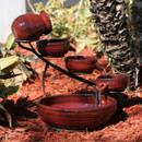 Smart Solar Red Lava Ceramic Cascade Solar Fountain