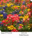 Field Flowers Canvas Wall Art