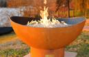 Scallop Gas Fire Pit by Fire Pit Art