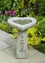 My Heart is in the Garden Birdbath by Campania International