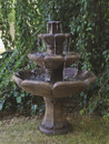 Henri Studio Cast Stone Montreux Three-Tier Water Fountain