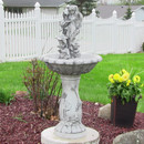 Sunnydaze Fairy Flower Solar-on-Demand Outdoor Water Fountain, 42.5 Inches Tall