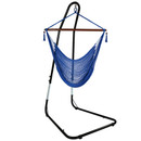 Blue Hammock Chair on Stand