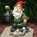 Sunnydaze Frankie JR. the Solar LED Lantern Welcome Gnome, 16 Inch Tall