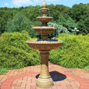 Large 4-Tier Eggshell Outdoor Water Fountain with LED Lights