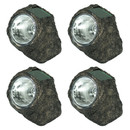 Rock With White Solar LED Light - Set of 4