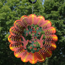 Orange Hummingbird Wind Spinner