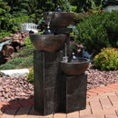 3-Tier Burning Bowls Outdoor Fire and Water Fountain
