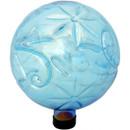 View of Blue Flower Pattern Gazing Globe Ball