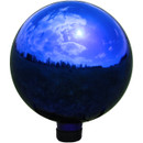 View of Blue Mirrored Surface Gazing Globe Ball