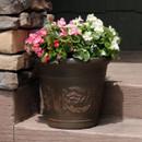 Arabella Rust 16-Inch Diameter Indoor/Outdoor Planter