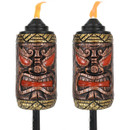 Tiki Face Outdoor Lawn Torch, Set of 2
