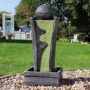 Sunnydaze Art Deco Rippling Stream Outdoor Water Fountain, 39-Inch Tall
