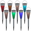 Multi-Color LED Outdoor Solar Garden Landscape Pathway Lights, Set of 8