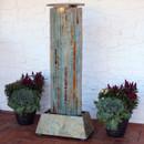 Sunnydaze Indoor/Outdoor Floor Water Fountain Tower, Natural Slate, 49-Inch