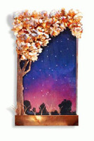 Tall Galaxy Tree Wall Fountain