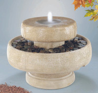 Millstone Cast Stone Fountain by Henri Studio