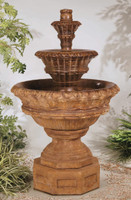 Valencia Three-Tier Cast Stone Fountain by Henri Studio