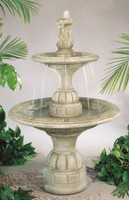 Small Contemporary Tiered Cast Stone Fountain by Henri Studio