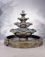 Henri Studio Cast Stone Quattro Tier In Valencia Fountain